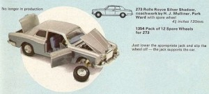 Silver Shadow Corgi catalogue 1970