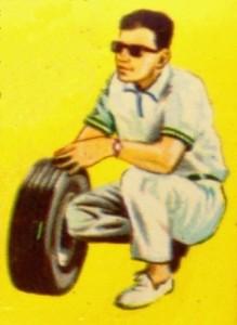 Take off wheels homme accroupi avec roue