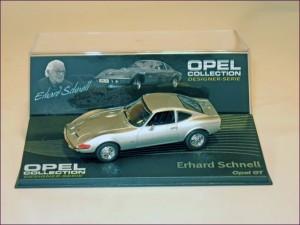 Eaglemoss 121 Opel GT and Designer Erhard Schnell