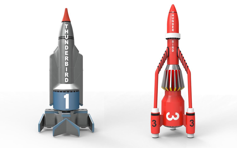 Corgi Thunderbirds 1 and 3