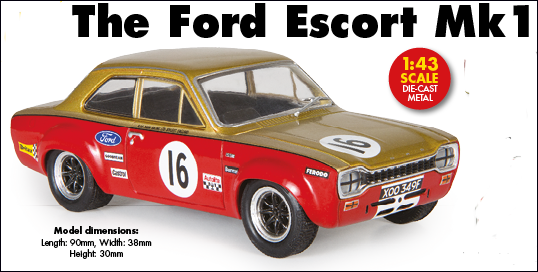 Atlas Touring Car Collection Ford Escort Mark I