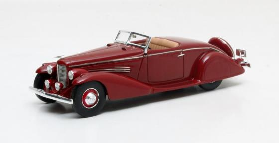 MX40406-021 Duesenberg SJ 572-2596 Convertible Coupe SWB Bohman & Schwarz Maroon 1935