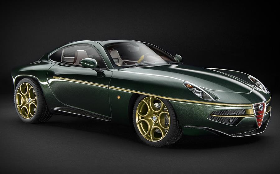 Technomodel Alfa Romeo Disco Volante 1 18 Scale Metallic Green