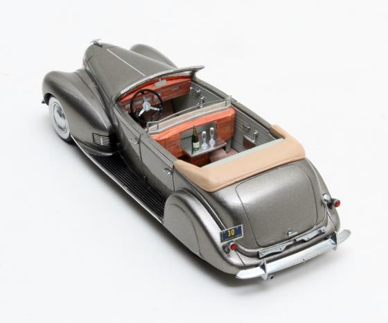 Lincoln Model K LeBaron Convertible Sedan grey metallic 1938 2