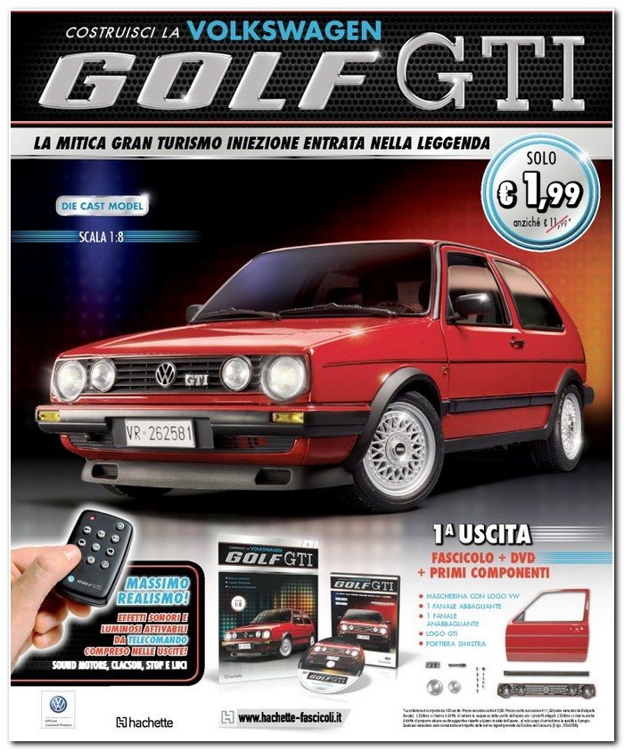 Hachette Volkswagen Golf GTI to 1 8 scale c